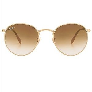 ray ban round metal glasses